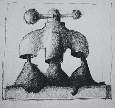 Modderkraan tekening 400x373