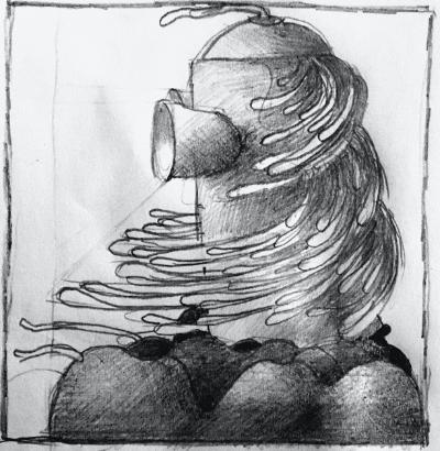 vrouw tekening 400x410